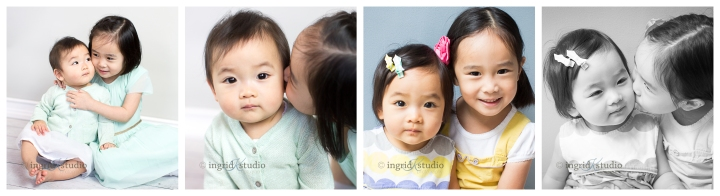 Chloe {at 3 yrs, then 4 yrs} & Olive {at 8 mos, then 1 yr}